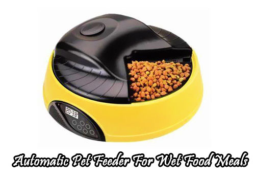 Automatic Pet Feeder For Wet Food Meals